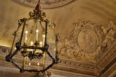 Palace Versailles Chandelier Stock Image