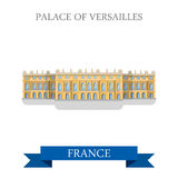 Palace of Versailles in France flat vector attraction landmark Royalty Free Stock Photo