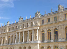 Palace of Versailles, France. Garden facing facade at the Château de Versailles on a beautiful, sunny afternoon Stock Image