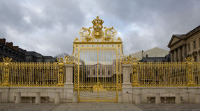 Palace of Versailles France Golden Gate Stock Photo