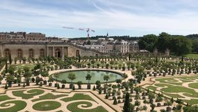 The Palace of Versailles and Garden, France stock video footage