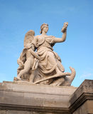 Palace of Versailles gate statue Stock Photography