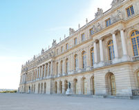 Palace of Versailles Landscape Horizontal. Castle of Versaille frontage with blue sky in the background , Landscape Royalty Free Stock Photo