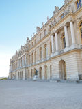 Palace of Versailles Landscape Vertical. Castle of Versaille frontage with blue sky in the background Stock Photos