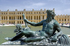 Palace of Versailles, Paris. The Palace of Versailles or simply Versailles, is a royal château in Versailles in the Île-de-France region of France. In French Stock Image