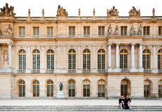 Palace of Versailles on the palace`s garden side. Stock Photo