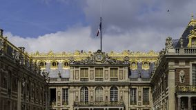The Palace of Versailles. Or simply Versailles is a royal château in Versailles in the Île-de-Franc stock images