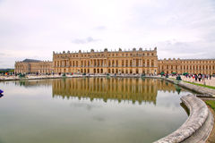 Palace of Versailles. Tourists visiting the Palace of Versailles Royalty Free Stock Images