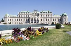 Palace in vienna Royalty Free Stock Images