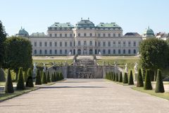 Palace in vienna Royalty Free Stock Photos