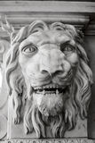 Palace vintage statue,  the lion's face Royalty Free Stock Photos