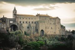 Palazzo dei Papi di Viterbo. Old 13th century italian palace. Palace in Viterbo, northern Latium, Italy. It is one of the most important monuments in the city stock image