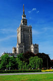 Palace in Warsaw Stock Photo