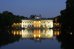 Palace on the water in Lazienki Park Royalty Free Stock Photo