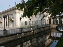 Lazienki Park. Palace on the Water in Lazienki Park, Warsaw stock photos