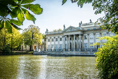 Palace on the Water, Lazienki Park in Warsaw, Poland. Northern facade Stock Photos