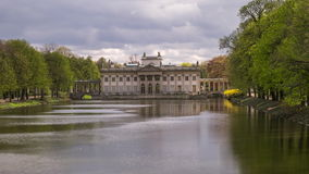Palace on the Water in Lazienki Park in Warsaw - Time Lapse Video stock video