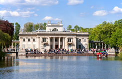 Palace on Water in Lazienki, Warsaw, Poland Stock Images