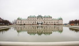 Palace in water reflection Stock Photos