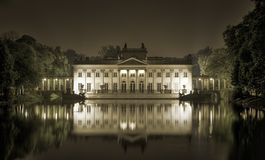 Palace on the water in Royal Lazienki Park Royalty Free Stock Photo