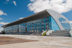 Palace of Water Sports under construction in Kazan. For the Universiade 2013 stock images