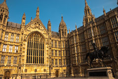 Palace of westminster. In London UK Royalty Free Stock Photos