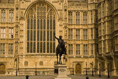 Palace of Westminster. Great Palace of Westminster in UK London Stock Photo