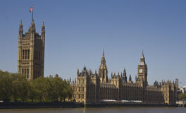Palace of Westminster. View from across the Thames to the Palace of Westminster Royalty Free Stock Photos