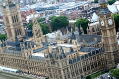 The Palace of Westminster. Also known as the Houses of Parliament or Westminster Palace, in London, is where the two Houses of the Parliament of the United Stock Images