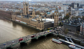 Palace of Westminster aerial Stock Photo
