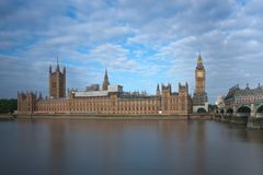 Palace of Westminster, Big Ben and Westminster bridge. In the morning , London, England Stock Images