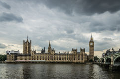 Palace of Westminster with the Big Ben in London, England Royalty Free Stock Images