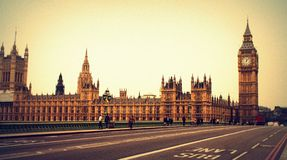 Palace of Westminster and Big Ben. In London - World Heritage Site Stock Photos