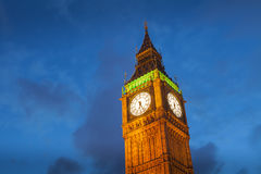 The Palace of Westminster Big Ben at night, London Stock Image