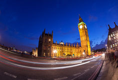 The Palace of Westminster Big Ben at night, London Stock Photos