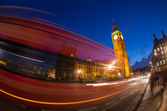The Palace of Westminster Big Ben at night, London Stock Images