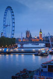 The Palace of Westminster Big Ben at night, London Royalty Free Stock Photos