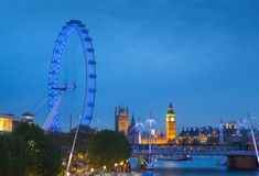 The Palace of Westminster Big Ben at night, London Stock Photo