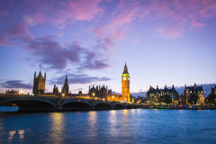 The Palace of Westminster Big Ben at night, London, England, UK. Canon EOS 5 d mark2 Royalty Free Stock Photography