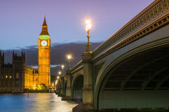 The Palace of Westminster Big Ben at night, London, England, UK Royalty Free Stock Photo