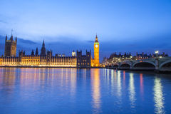 The Palace of Westminster Big Ben at night, London, England, UK Royalty Free Stock Photos