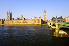 Palace of Westminster and bridge Royalty Free Stock Photography
