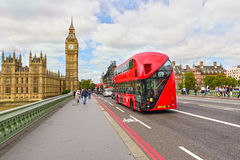 The Palace of Westminster with the clock tower Big Ben. London, England. royalty free stock photography