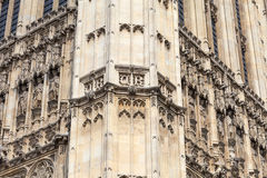 Palace of Westminster, details, London, United Kingdom Royalty Free Stock Image