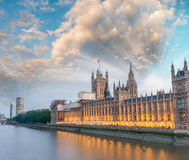 The Palace of Westminster at dusk, London, England, UK Royalty Free Stock Image