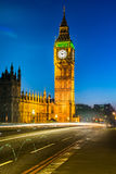 The Palace of Westminster at dusk, London Stock Images