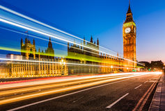 The Palace of Westminster at dusk, London Stock Photo