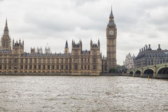 The Palace of Westminster. The Houses of Parliament London Royalty Free Stock Images
