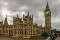 The Palace of Westminster. London, England, UK. stock photo