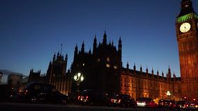 Palace of Westminster, include big ben, pan stock footage
